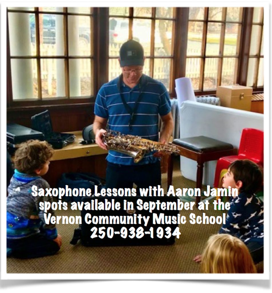 saxophone lessons with Aaron Jamin at the Vernon Community Music School
