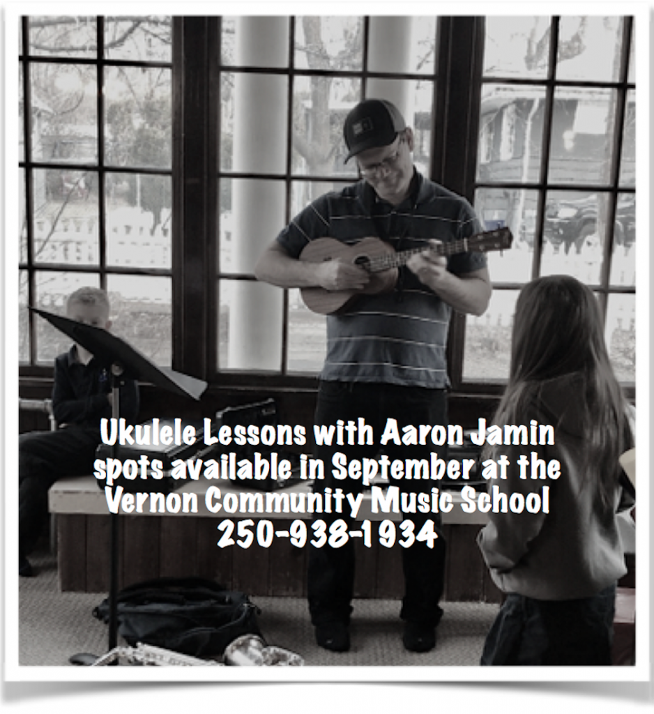 ukulele lessons with Aaron Jamin at the Vernon Community Music School