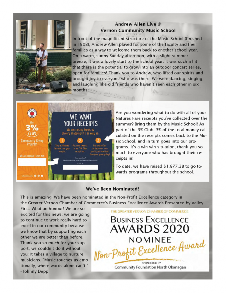 Page 3 of the Fall Newsletter