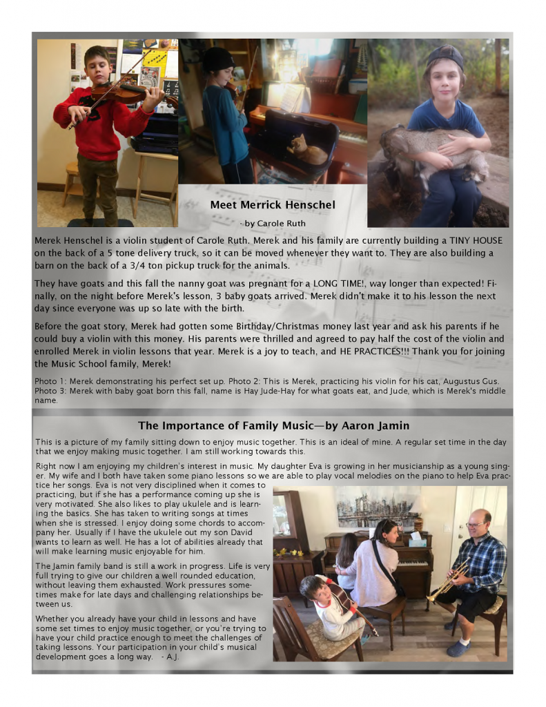 Page 4 of the Fall Newsletter