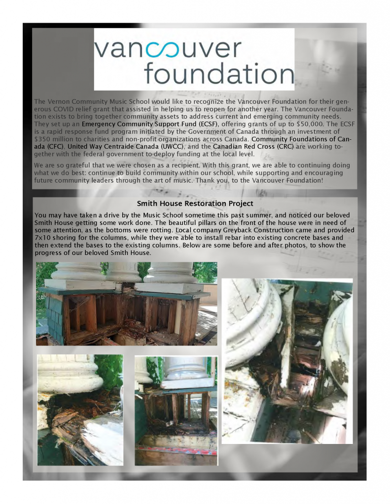 Page 5 of the Fall Newsletter