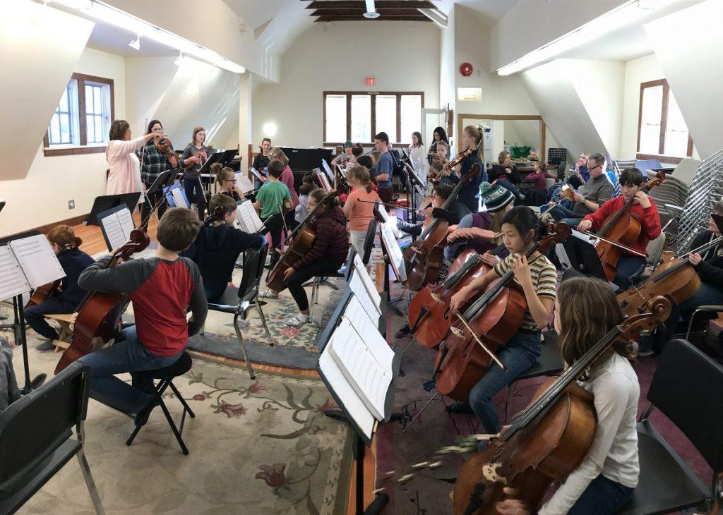 violin and cello players - Suzuki method