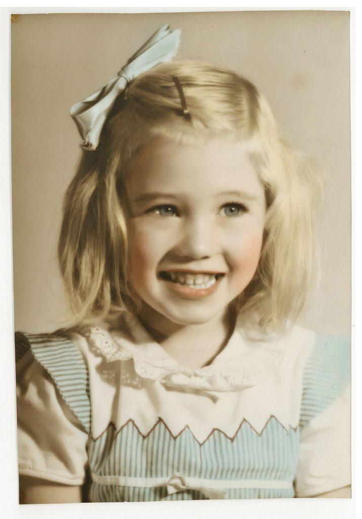 Vernon Community Music School Violin instructor Carole Ruth as a child
