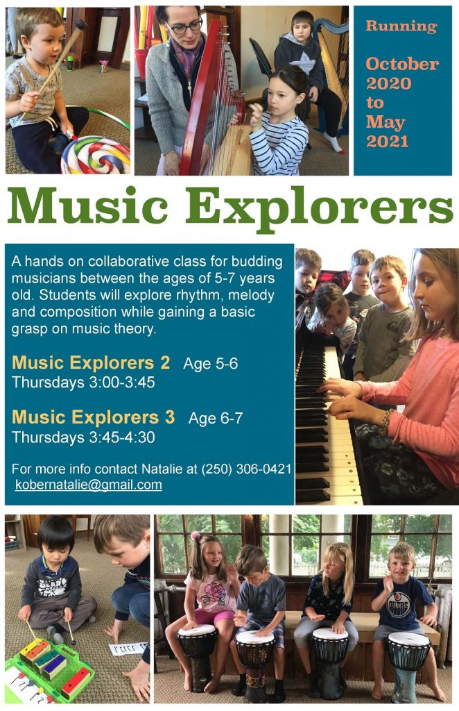 children's music programs in Vernon BC for 5-7 year olds