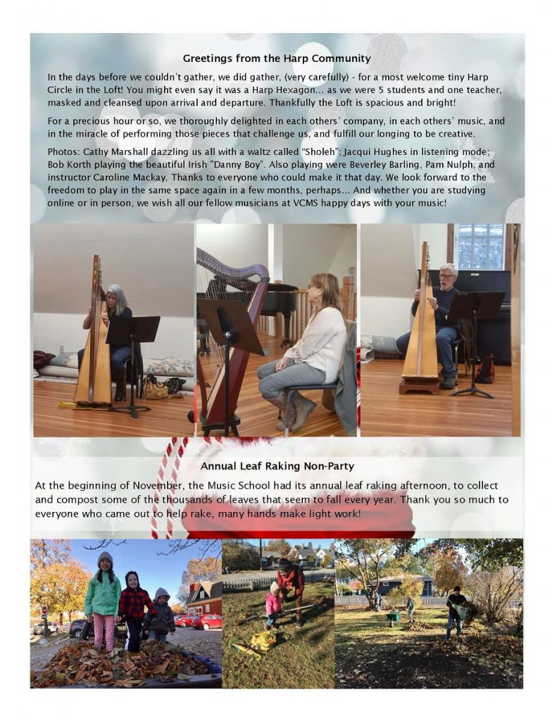 newsletter page 6 - greetings from the harp community