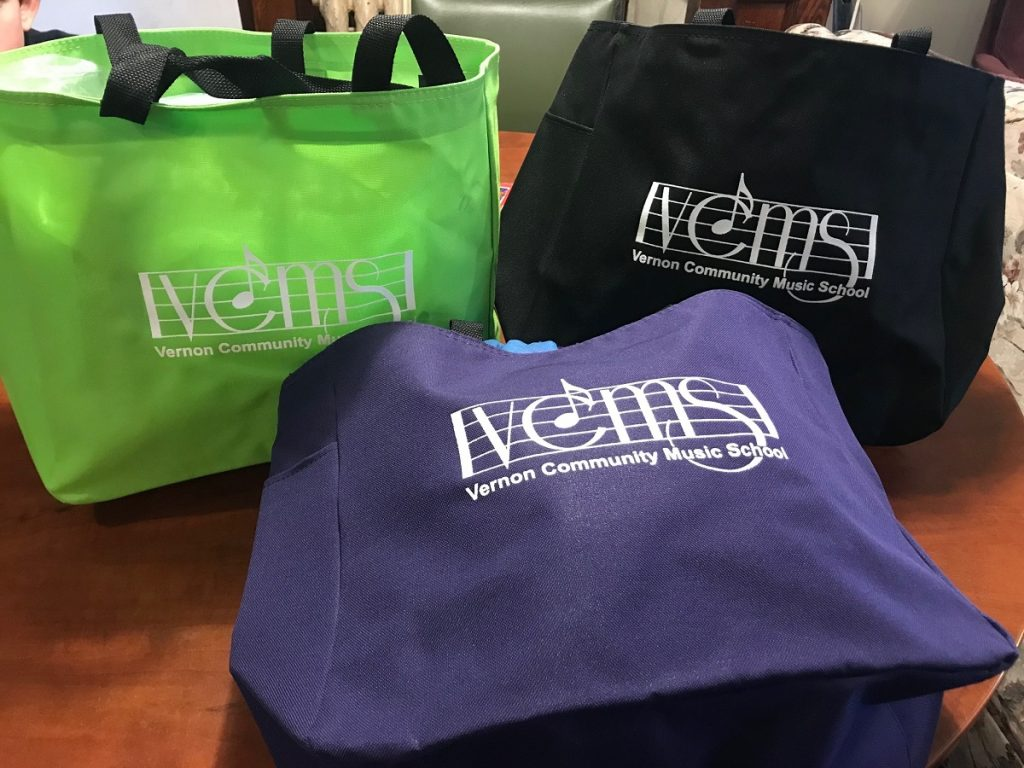 Music School tote bags
